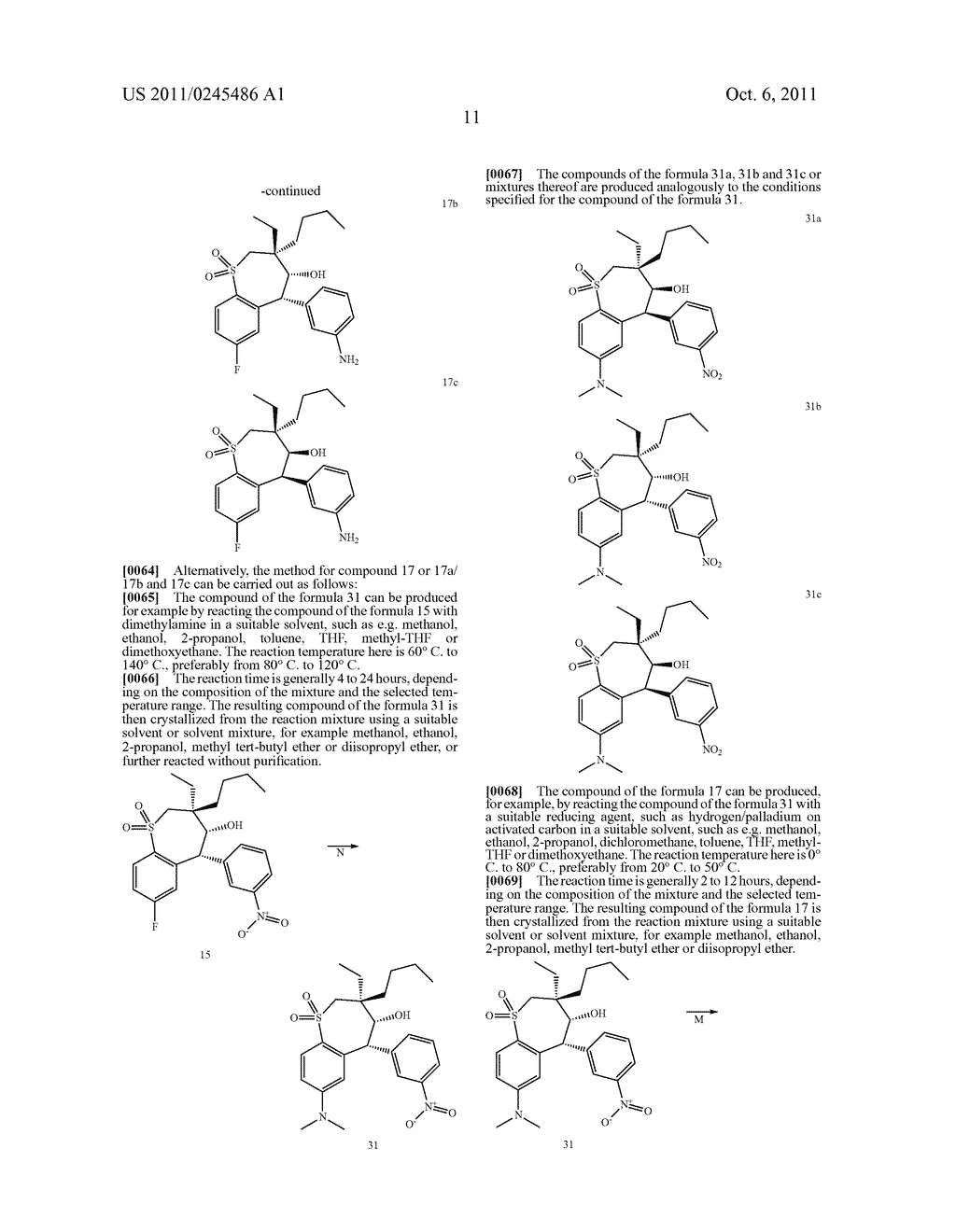 METHOD FOR THE PRODUCTION OF 1,4-BENZOTHIEPIN-1,1-DIOXIDE DERIVATIVES - diagram, schematic, and image 12
