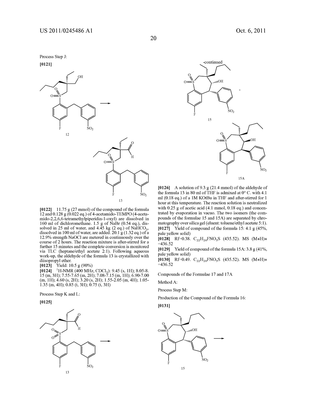 METHOD FOR THE PRODUCTION OF 1,4-BENZOTHIEPIN-1,1-DIOXIDE DERIVATIVES - diagram, schematic, and image 21