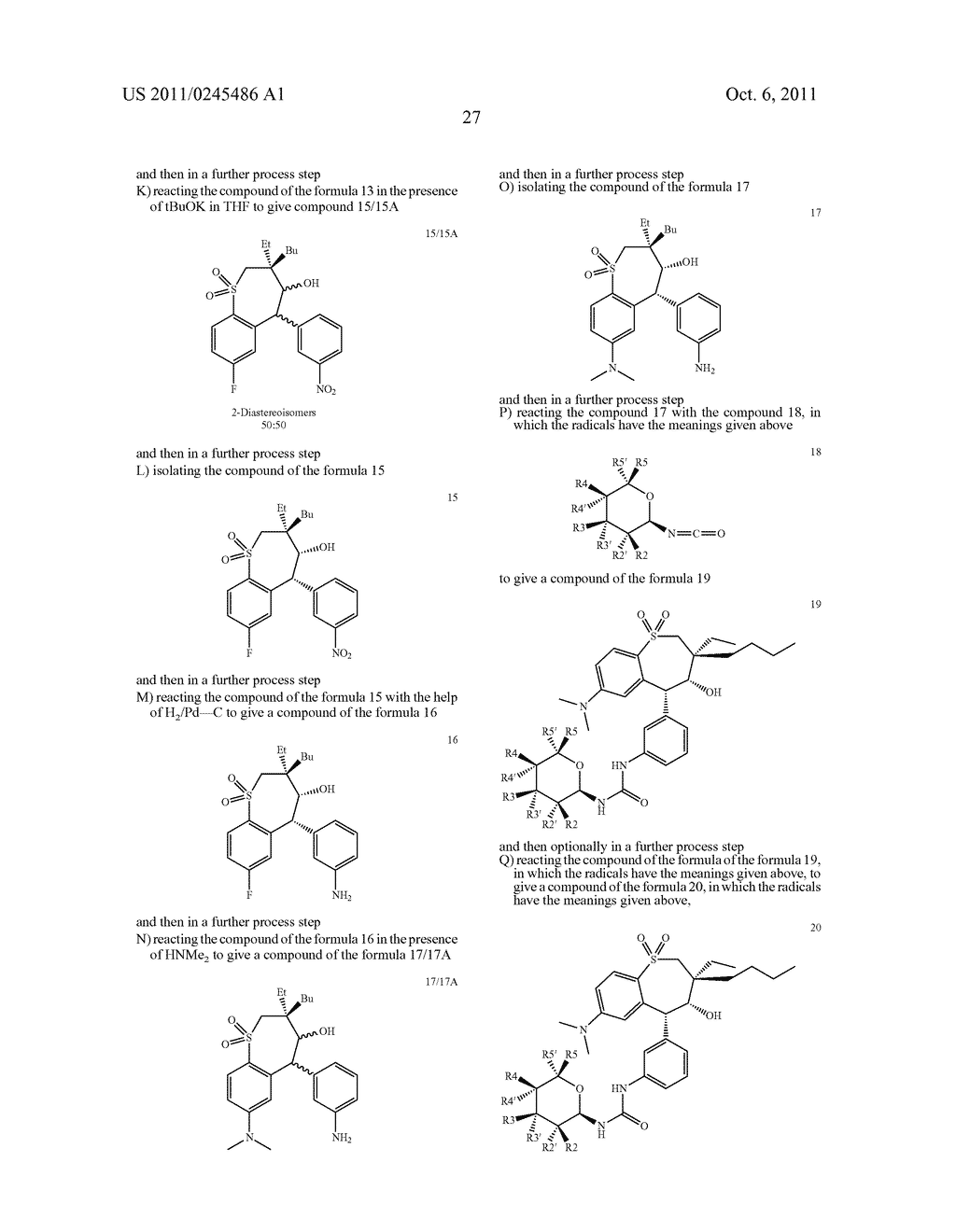 METHOD FOR THE PRODUCTION OF 1,4-BENZOTHIEPIN-1,1-DIOXIDE DERIVATIVES - diagram, schematic, and image 28