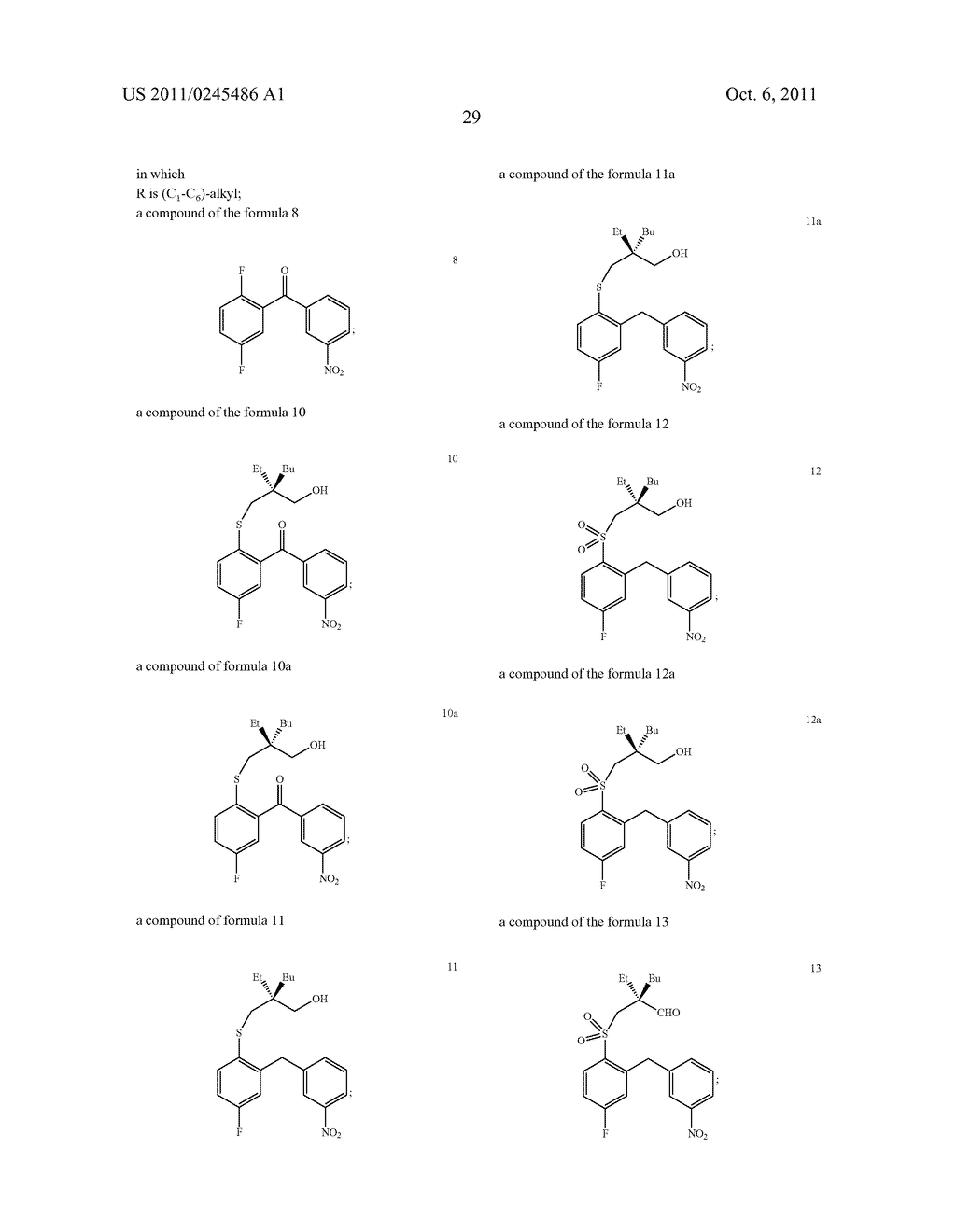 METHOD FOR THE PRODUCTION OF 1,4-BENZOTHIEPIN-1,1-DIOXIDE DERIVATIVES - diagram, schematic, and image 30