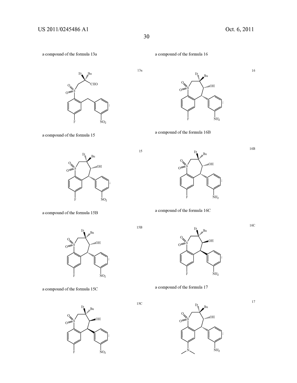 METHOD FOR THE PRODUCTION OF 1,4-BENZOTHIEPIN-1,1-DIOXIDE DERIVATIVES - diagram, schematic, and image 31