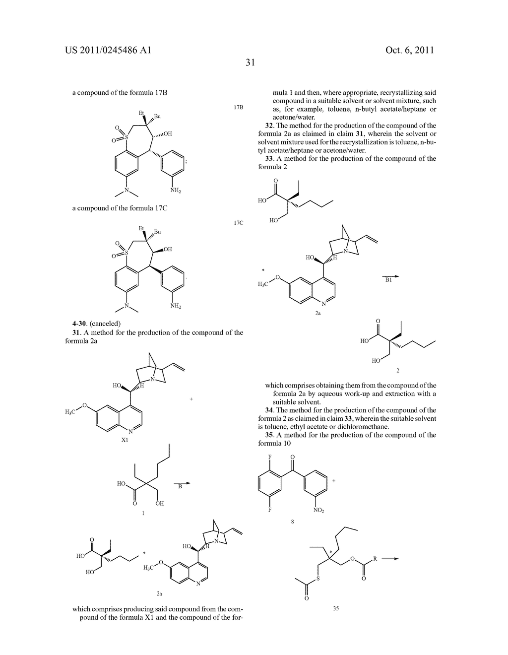 METHOD FOR THE PRODUCTION OF 1,4-BENZOTHIEPIN-1,1-DIOXIDE DERIVATIVES - diagram, schematic, and image 32