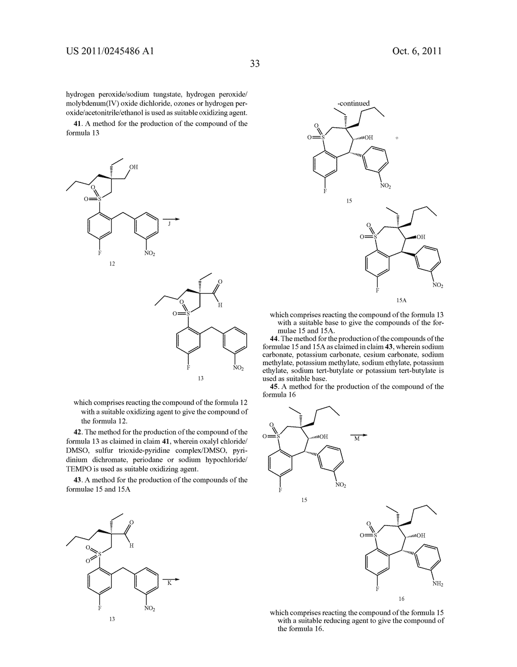 METHOD FOR THE PRODUCTION OF 1,4-BENZOTHIEPIN-1,1-DIOXIDE DERIVATIVES - diagram, schematic, and image 34