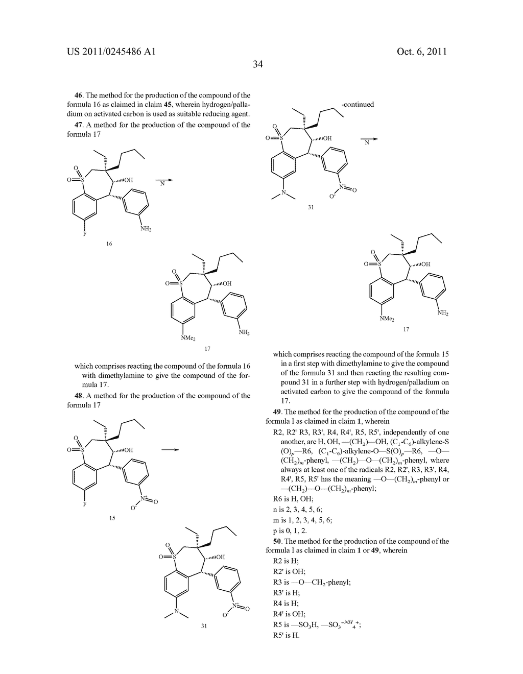 METHOD FOR THE PRODUCTION OF 1,4-BENZOTHIEPIN-1,1-DIOXIDE DERIVATIVES - diagram, schematic, and image 35
