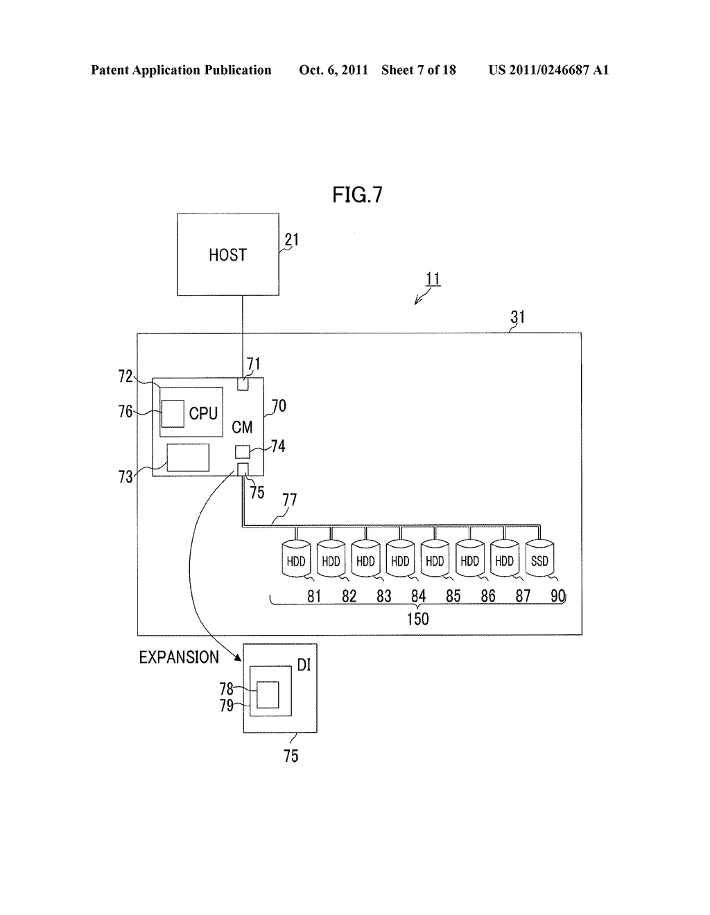 STORAGE CONTROL APPARATUS, STORAGE SYSTEM AND METHOD - diagram, schematic, and image 08