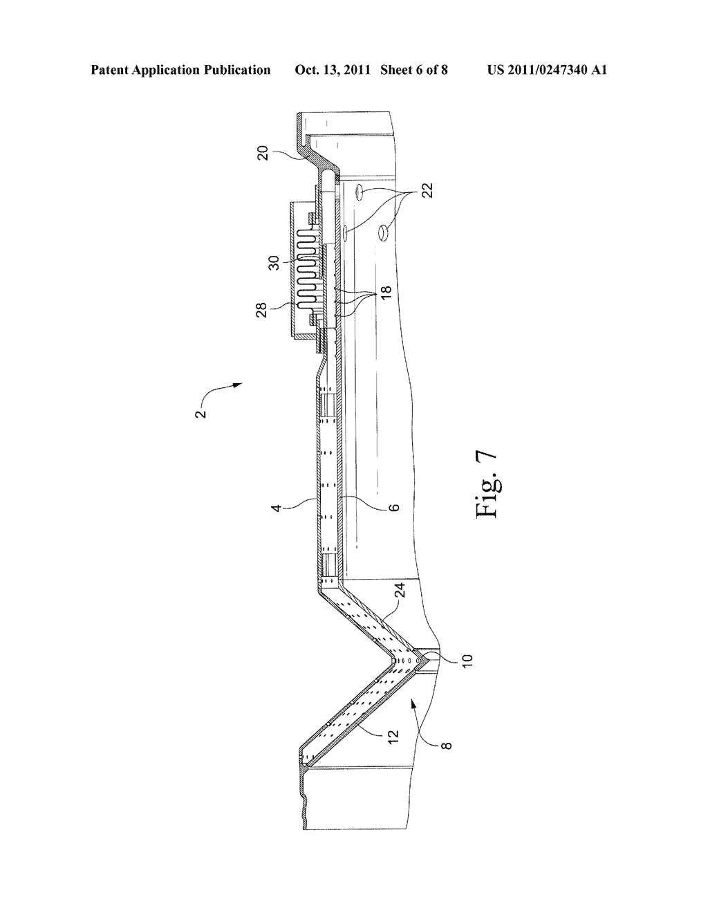 APPARATUS AND METHOD FOR MINIMIZING AND/OR ELIMINATING DILUTION AIR     LEAKAGE IN A COMBUSTION LINER ASSEMBLY - diagram, schematic, and image 07