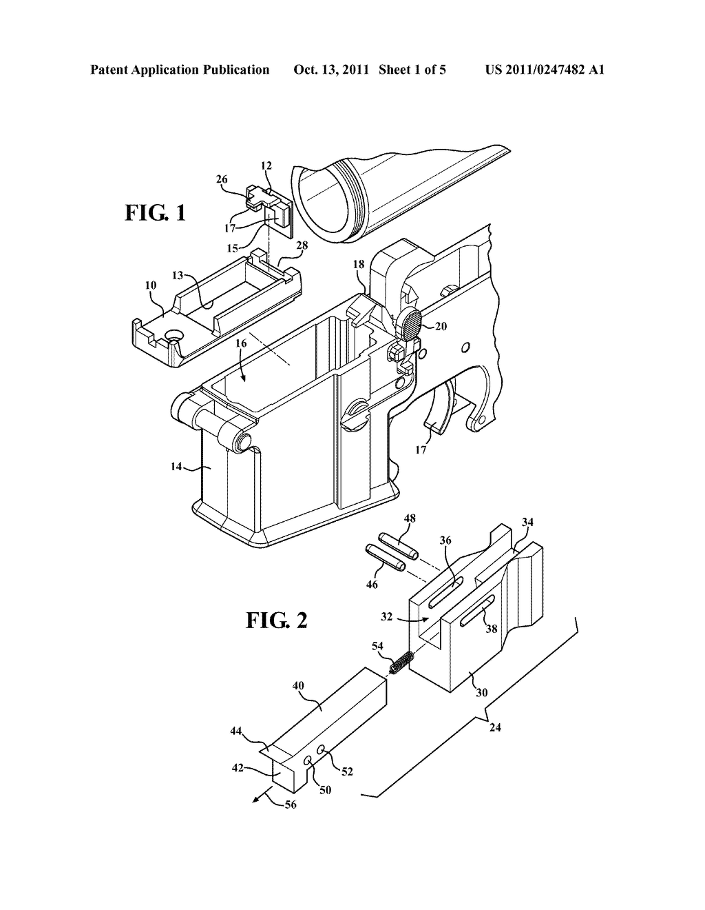 Drop Bolt Hold Open Actuator For Use With Ar 15 M16 Type Firearms Parallel Circuit Diagram And Incorporating A Modified Displaceable Follower Engaging Catch Mechanism