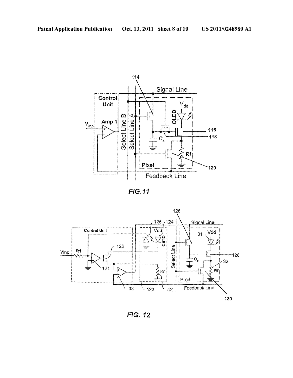 CIRCUIT AND METHOD FOR DRIVING AN ARRAY OF LIGHT EMITTING PIXELS - diagram, schematic, and image 09