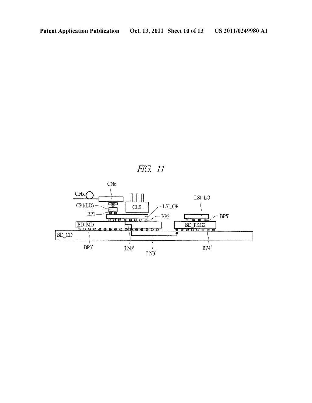 OPTICAL COMMUNICATION MODULE AND OPTICAL COMMUNICATION DEVICE - diagram, schematic, and image 11