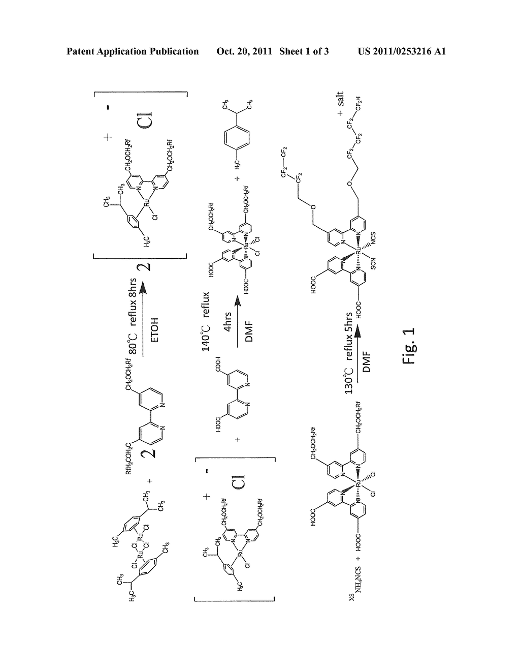 TRANSITION METAL COMPLEXES, MANUFACTURING METHOD THEREOF, PHOTOVOLTAIC     CELLS AND MANUFACTURING METHOD THEREOF - diagram, schematic, and image 02