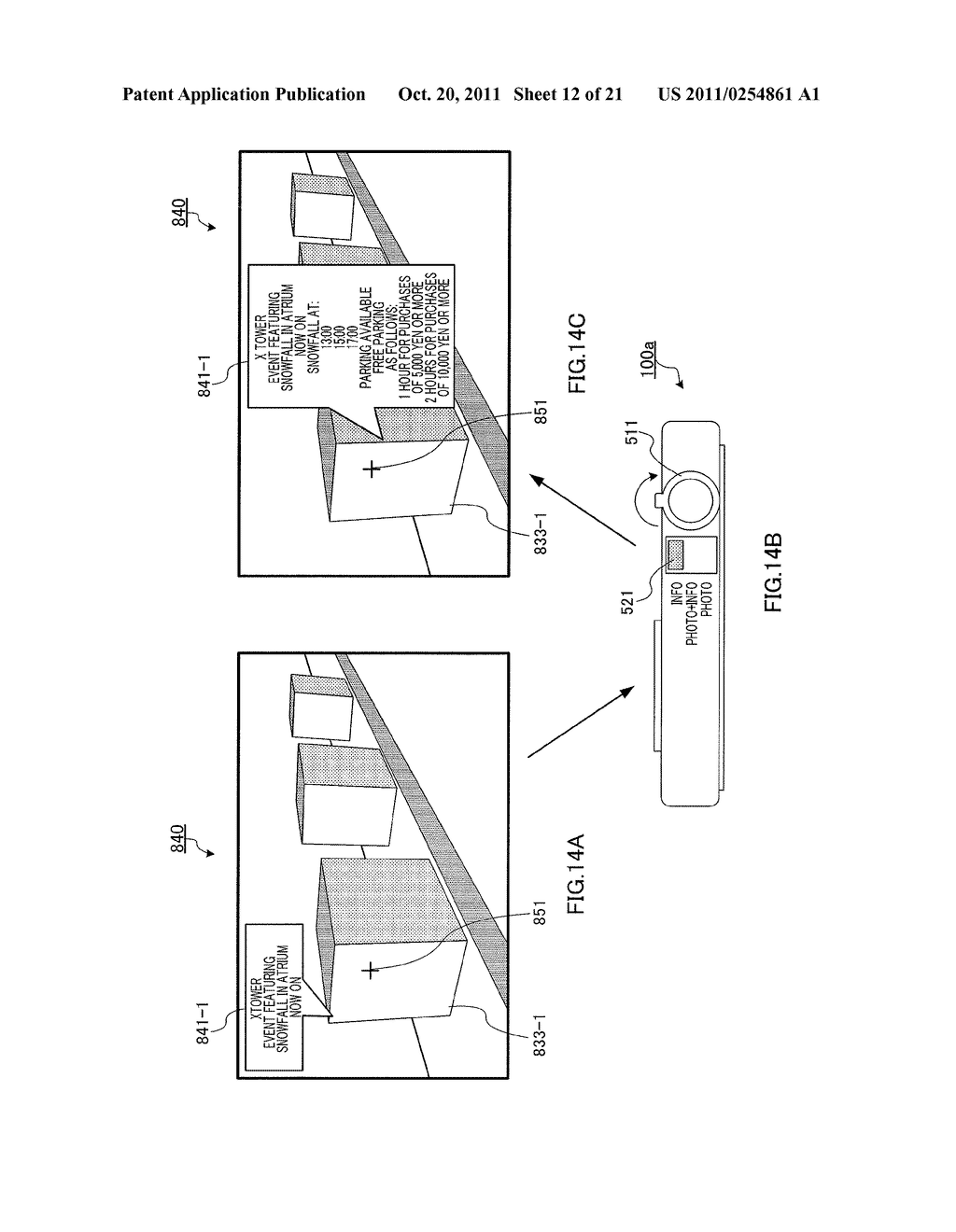 INFORMATION DISPLAYING APPARATUS AND INFORMATION DISPLAYING METHOD - diagram, schematic, and image 13