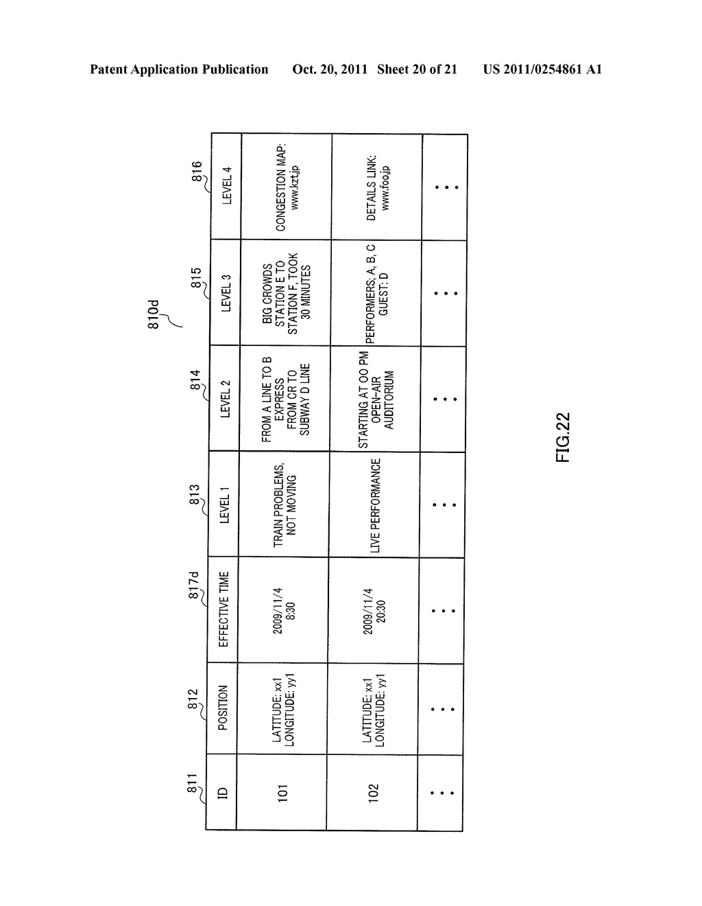 INFORMATION DISPLAYING APPARATUS AND INFORMATION DISPLAYING METHOD - diagram, schematic, and image 21