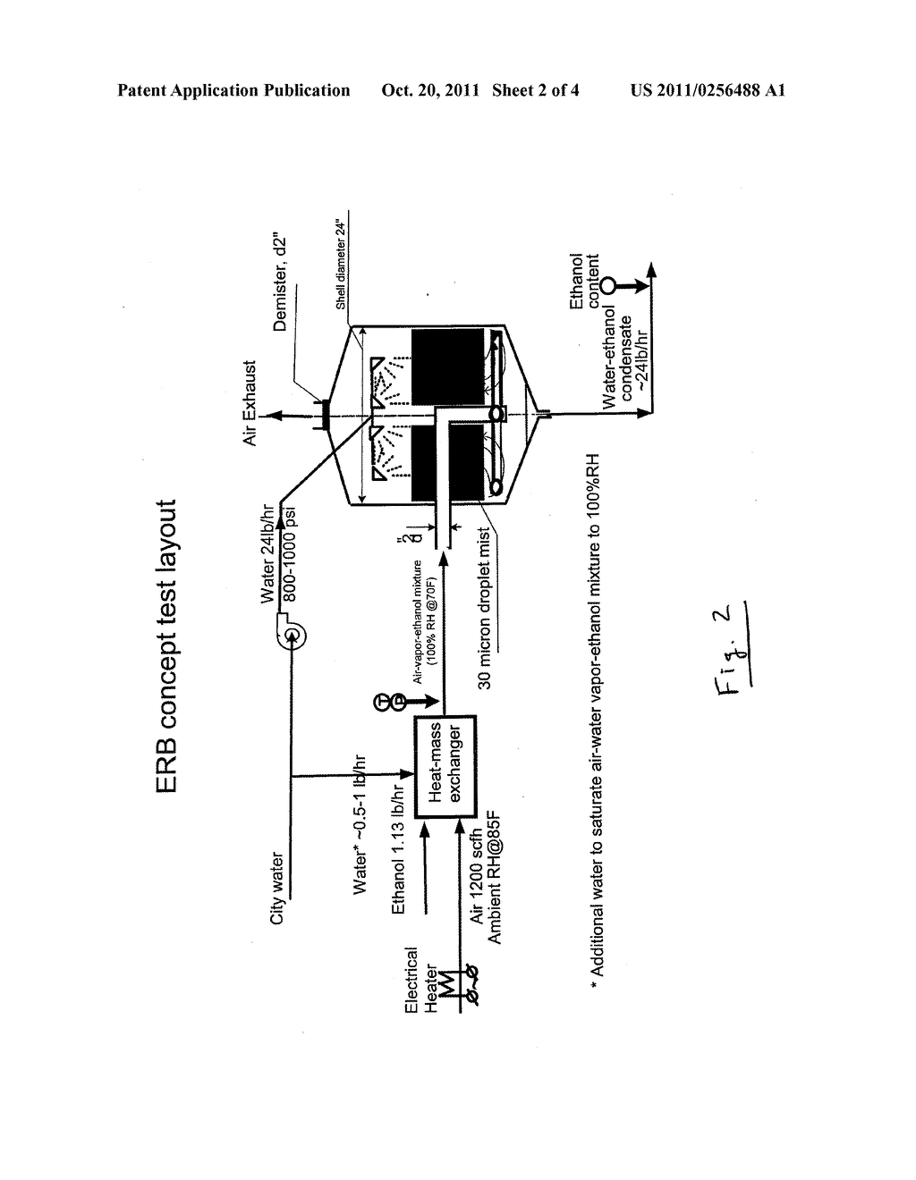 METHOD AND APPARATUS FOR EXTRACTION AND RECOVERY OF WATER-SOLUBLE VOLATILE     GAS, WATER VAPOR AND WASTE HEAT FROM STACK GAS - diagram, schematic, and image 03