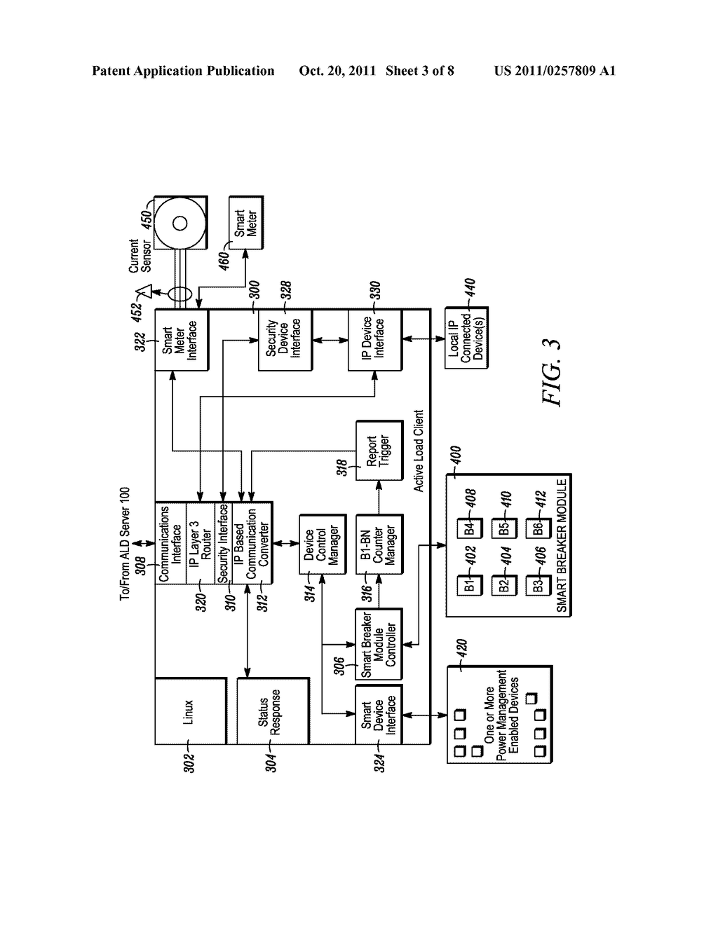 METHOD AND APPARATUS FOR ACTIVELY MANAGING CONSUMPTION OF ELECTRIC POWER     SUPPLIED BY AN ELECTRIC UTILITY - diagram, schematic, and image 04