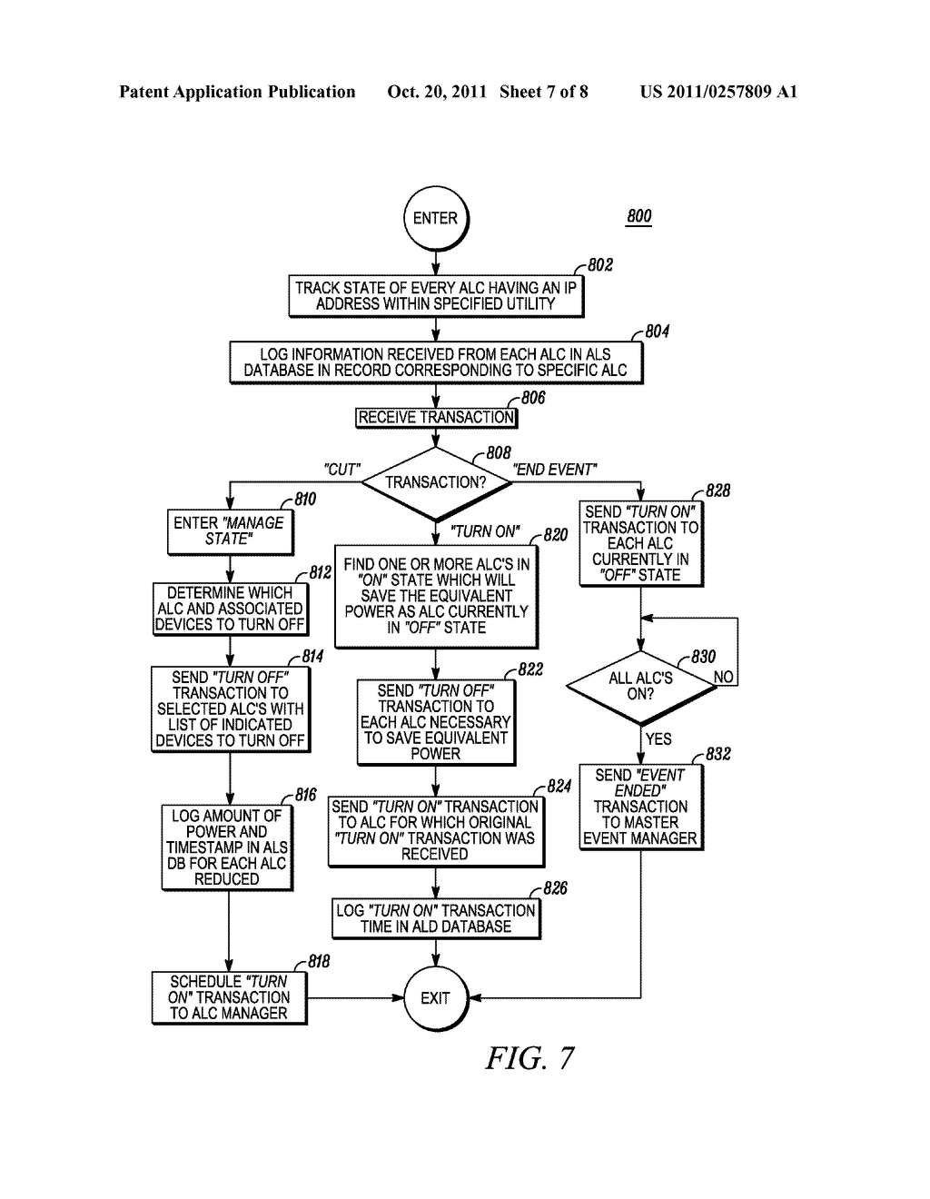 METHOD AND APPARATUS FOR ACTIVELY MANAGING CONSUMPTION OF ELECTRIC POWER     SUPPLIED BY AN ELECTRIC UTILITY - diagram, schematic, and image 08