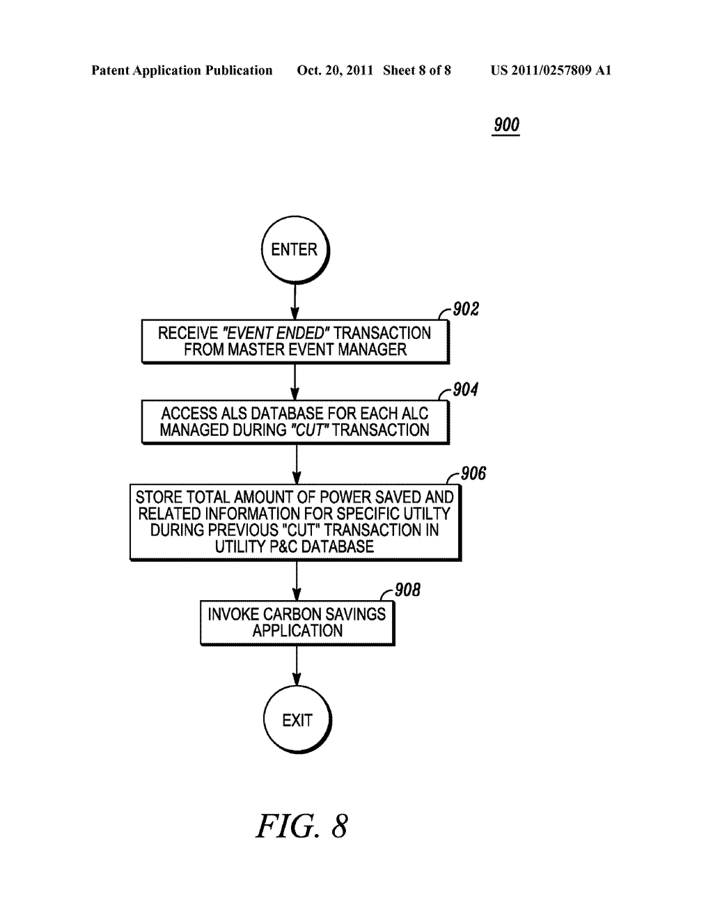 METHOD AND APPARATUS FOR ACTIVELY MANAGING CONSUMPTION OF ELECTRIC POWER     SUPPLIED BY AN ELECTRIC UTILITY - diagram, schematic, and image 09