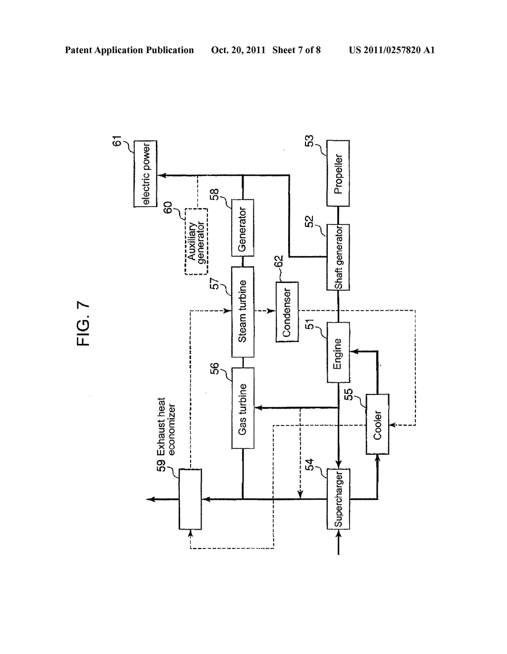 CONTROL DEVICE FOR VESSEL EQUIPPED WITH EXHAUST HEAT RECOVERY SYSTEM AND     THE VESSEL EQUIPPED WITH THE CONTROL DEVICE - diagram, schematic, and image 08