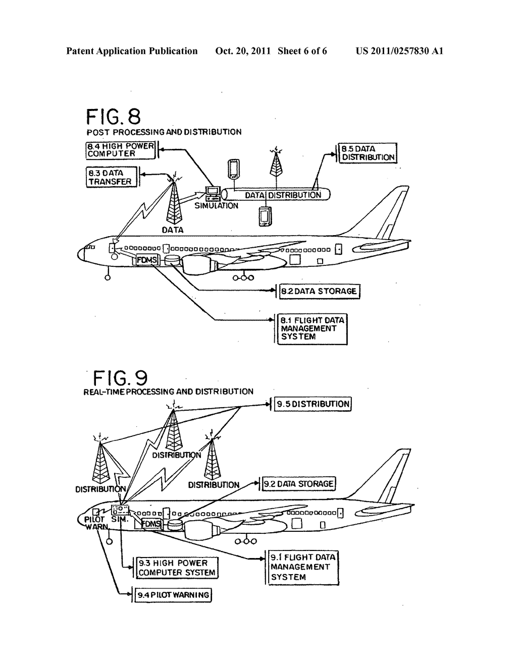 Method and device of calculating aircraft braking friction and other     relating landing performance parameters based on the data  received from     aircraft's on board flight data management system - diagram, schematic, and image 07