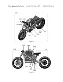 FRAME FOR A TWO WHEELED ELECTRIC VEHICLE diagram and image