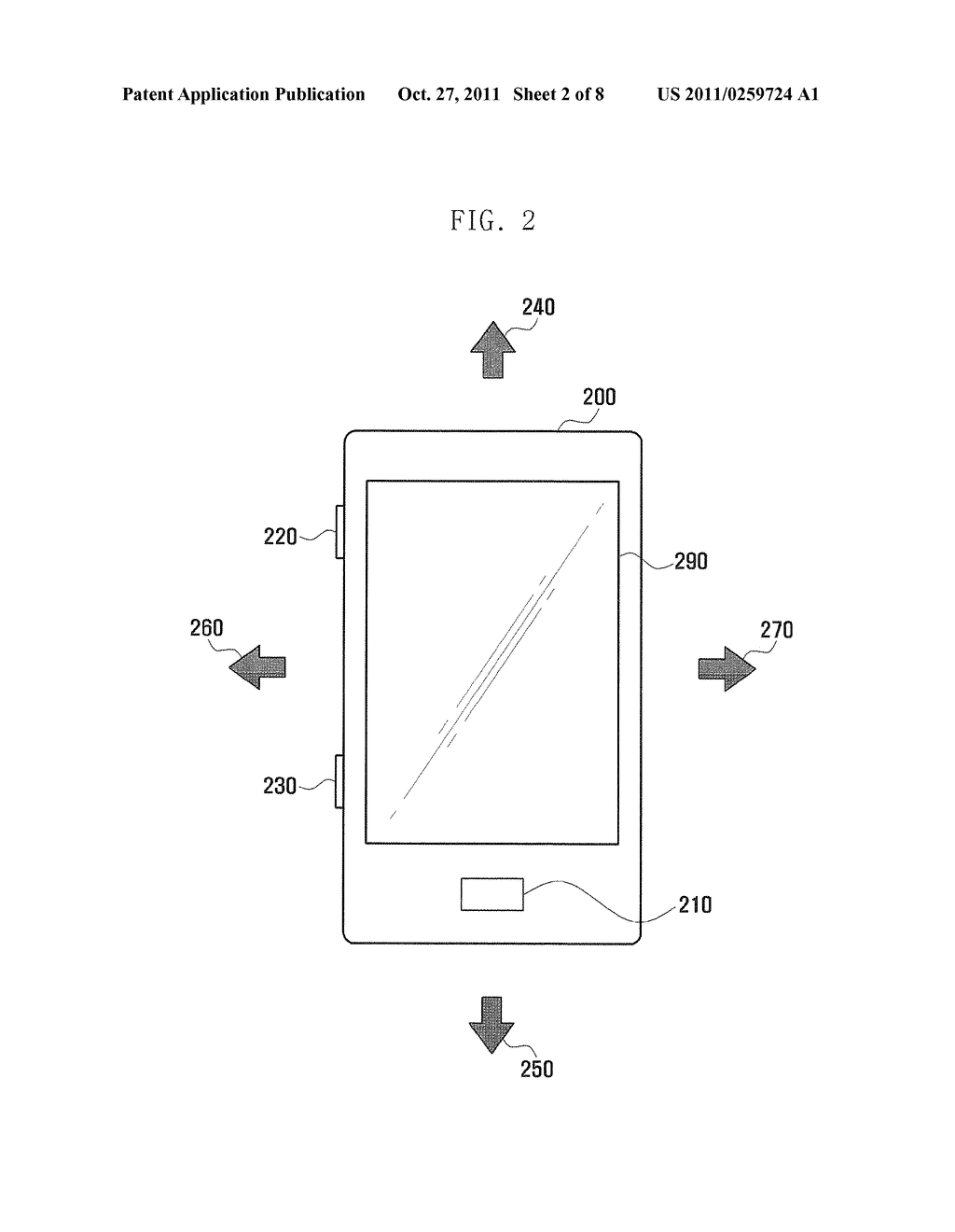 METHOD AND TERMINAL FOR PROVIDING USER INTERFACE USING TILT SENSOR AND KEY     INPUT - diagram, schematic, and image 03