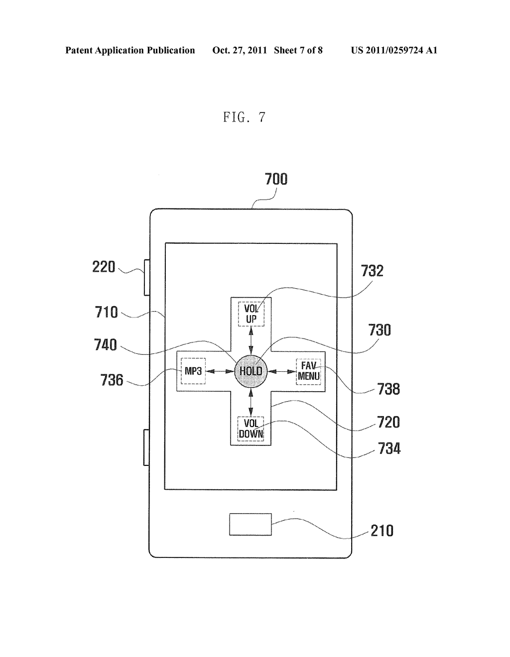 METHOD AND TERMINAL FOR PROVIDING USER INTERFACE USING TILT SENSOR AND KEY     INPUT - diagram, schematic, and image 08