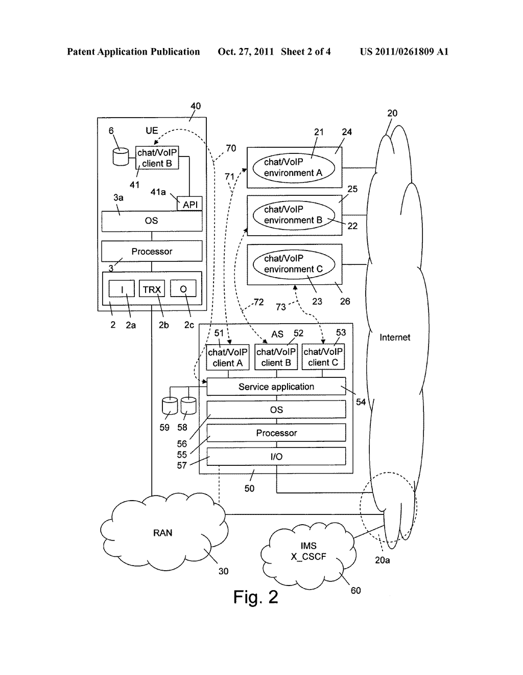 Method of and a Network Server and Mobile User Equipment for Providing     Chat/VoIP Services in a Mobile Telecommunications Network - diagram, schematic, and image 03