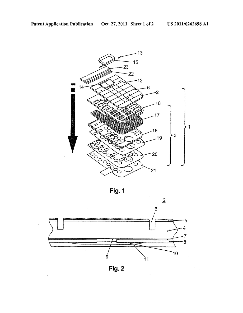 CONTROL PANEL, KEYBOARD MODULE AND METHOD FOR THE MANUFACTURE THEREOF - diagram, schematic, and image 02