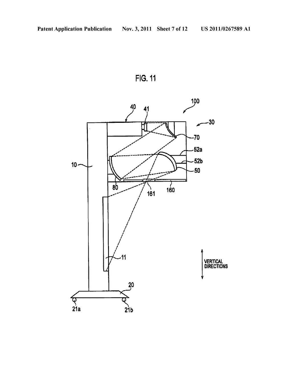 PROJECTION-TYPE IMAGE DISPLAY DEVICE AND PROJECTION-TYPE IMAGE DISPLAY     SYSTEM - diagram, schematic, and image 08