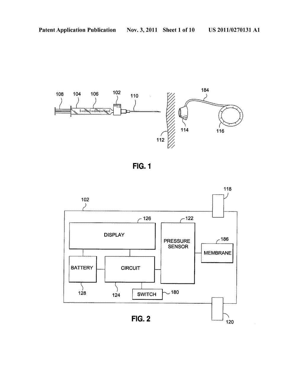 METHOD AND SYSTEM FOR DETERMINING THE PRESSURE OF A FLUID IN A SYRINGE, AN     ACCESS PORT, A CATHETER, AND A GASTRIC BAND - diagram, schematic, and image 02