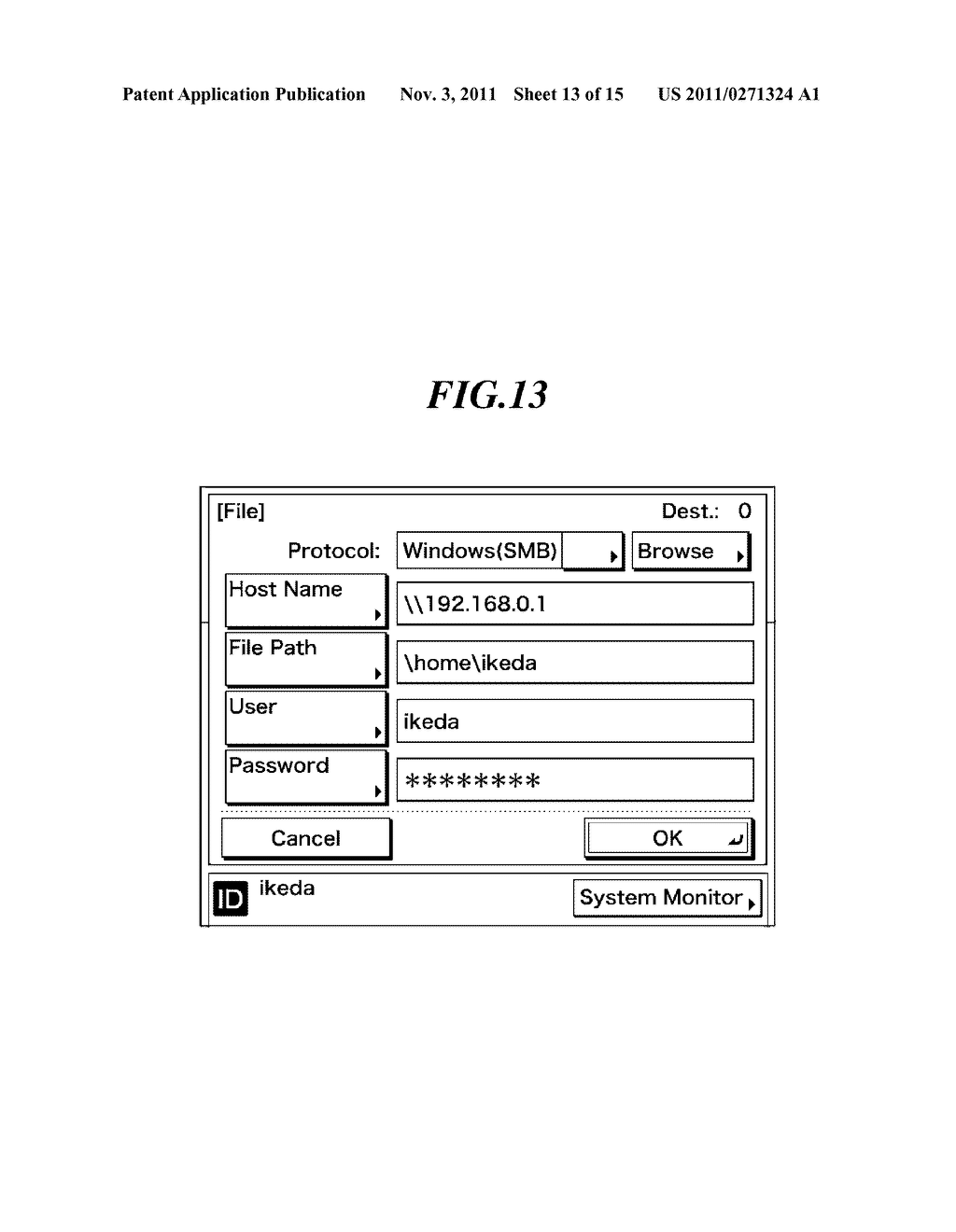 COMMUNICATION APPARATUS CAPABLE OF RESTRICTING DESTINATION OF TRANSMISSION     BY AUTHENTICATED USER, METHOD OF CONTROLLING THE COMMUNICATION APPARATUS,     AND STORAGE MEDIUM - diagram, schematic, and image 14