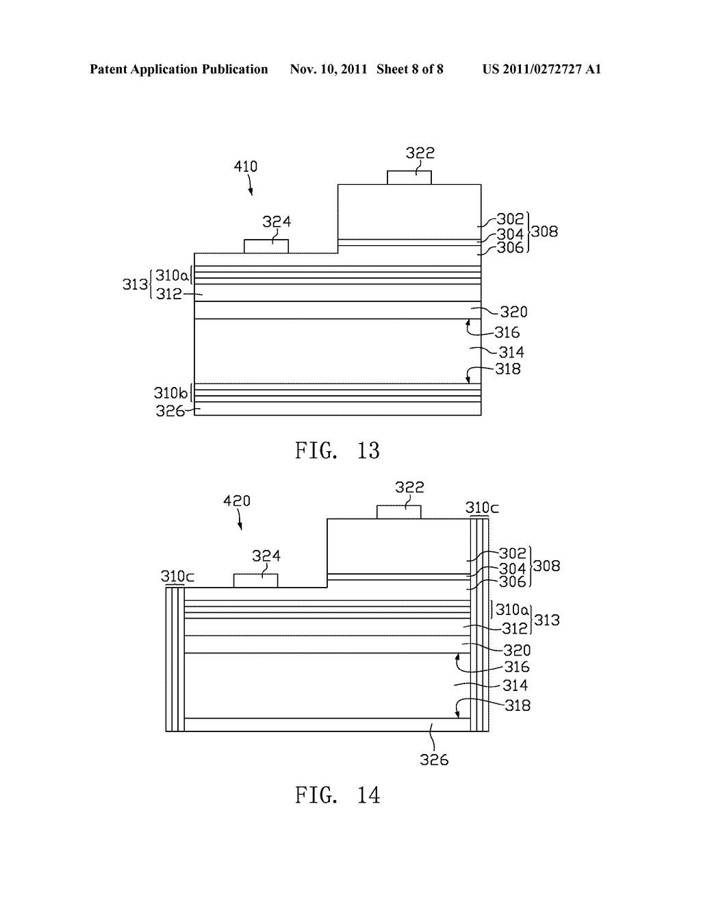 LIGHT-EMITTING DIODE AND METHOD FOR MANUFACTURING THE SAME - diagram, schematic, and image 09