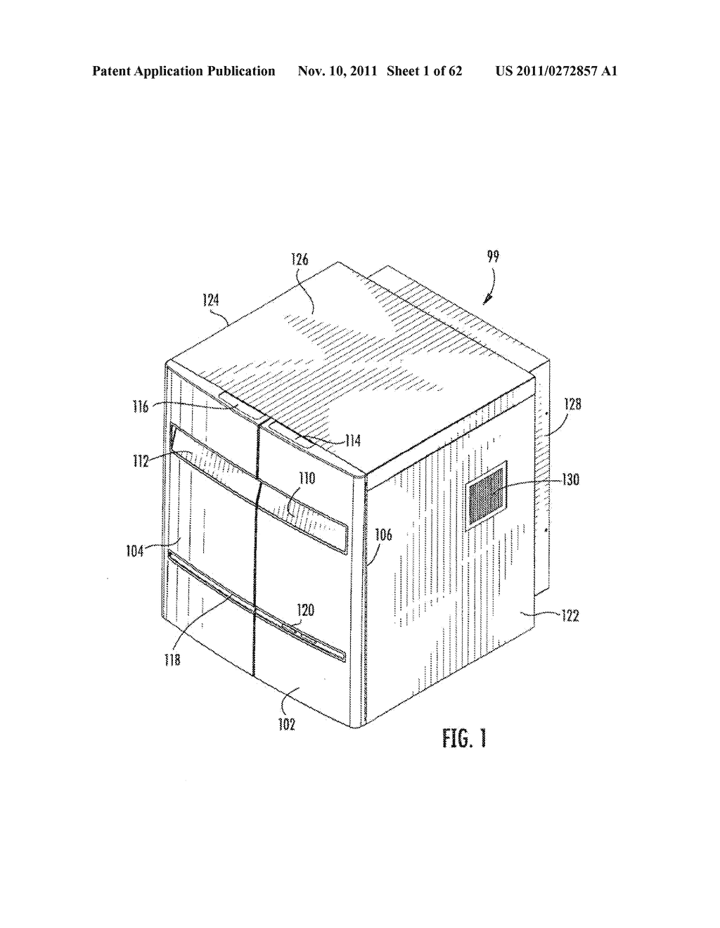 Elevator and Method for Tilting Solid Image Build Platform for Reducing     Air Entrainment and for Build Release - diagram, schematic, and image 02