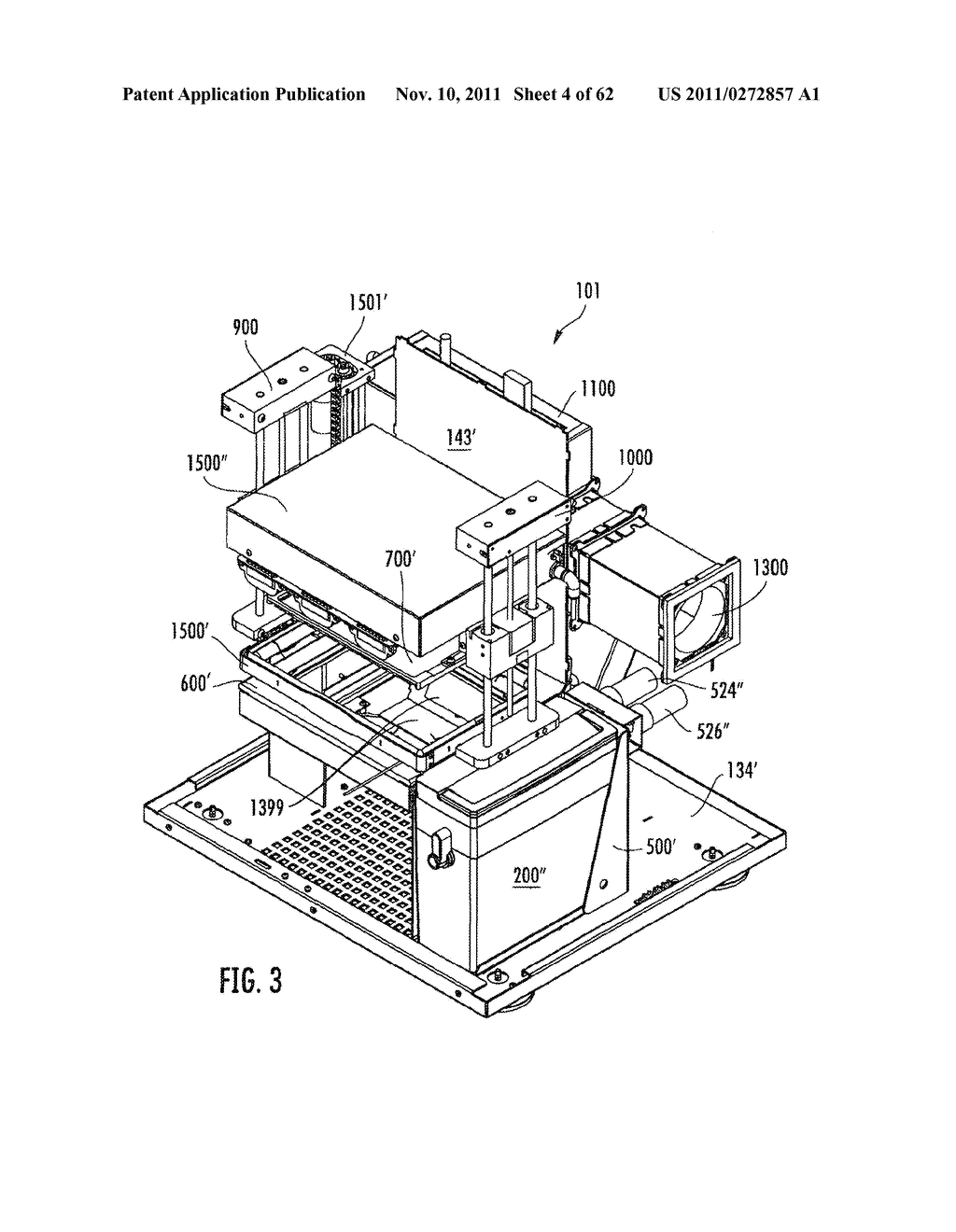 Elevator and Method for Tilting Solid Image Build Platform for Reducing     Air Entrainment and for Build Release - diagram, schematic, and image 05