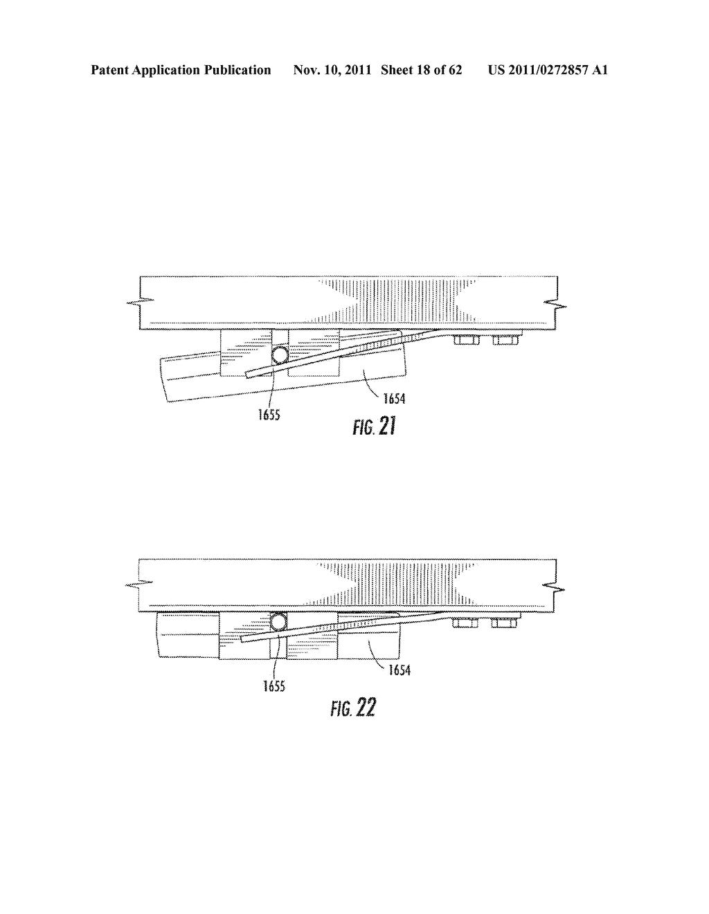 Elevator and Method for Tilting Solid Image Build Platform for Reducing     Air Entrainment and for Build Release - diagram, schematic, and image 19