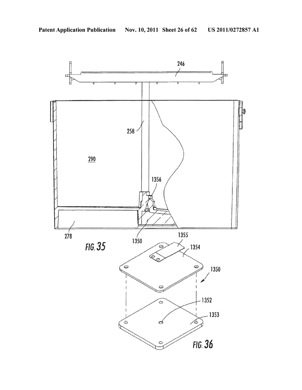 Elevator and Method for Tilting Solid Image Build Platform for Reducing     Air Entrainment and for Build Release - diagram, schematic, and image 27