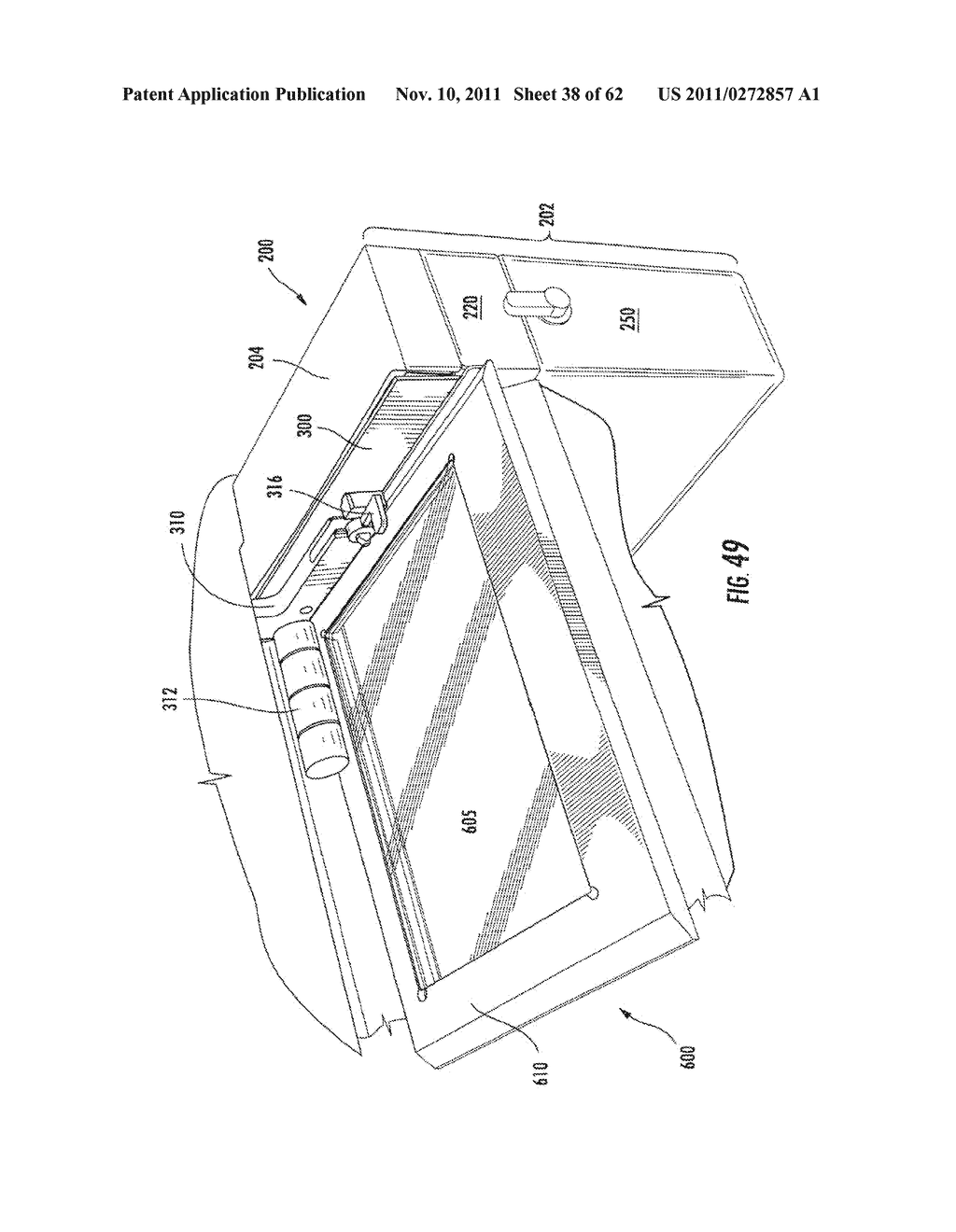 Elevator and Method for Tilting Solid Image Build Platform for Reducing     Air Entrainment and for Build Release - diagram, schematic, and image 39