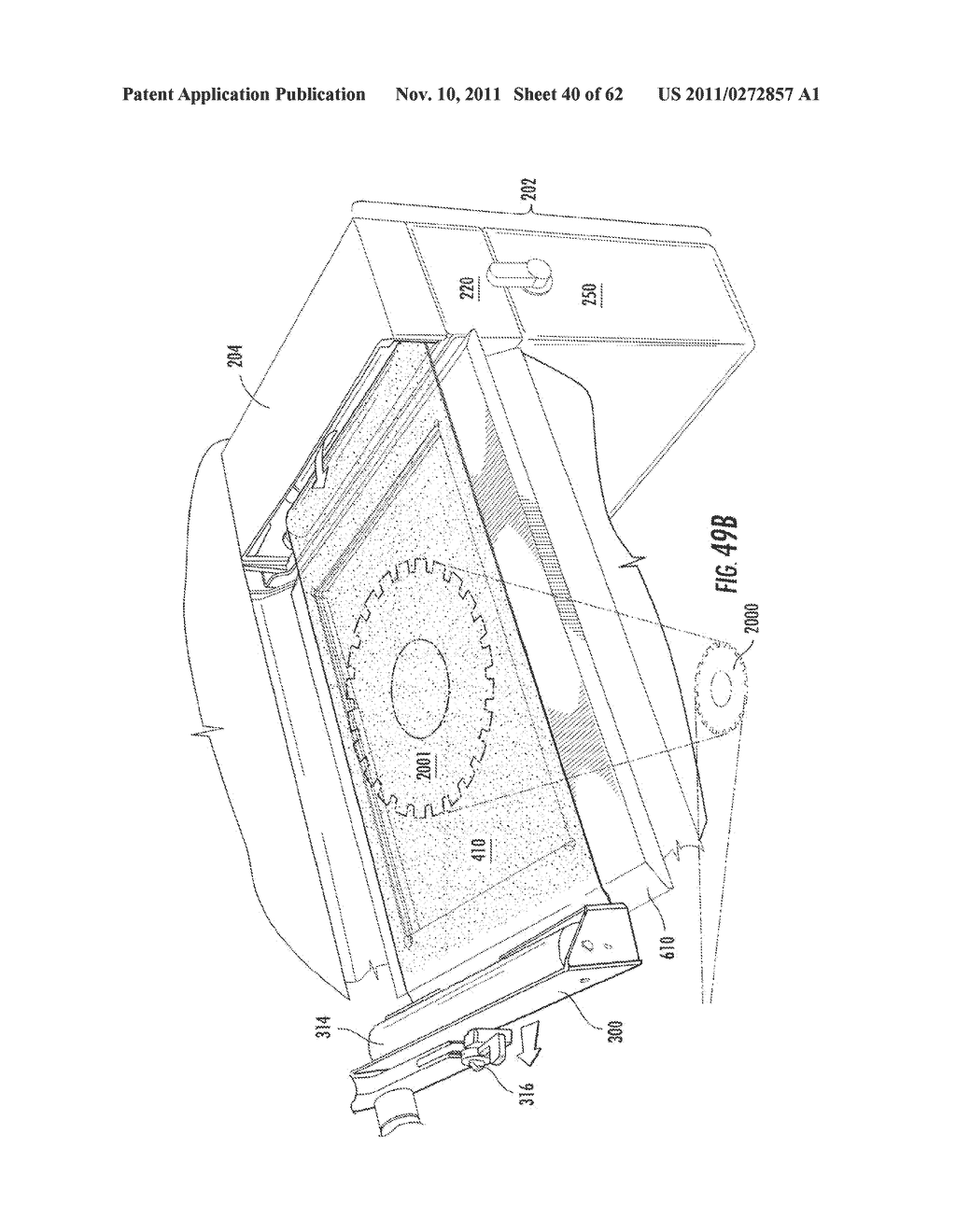 Elevator and Method for Tilting Solid Image Build Platform for Reducing     Air Entrainment and for Build Release - diagram, schematic, and image 41