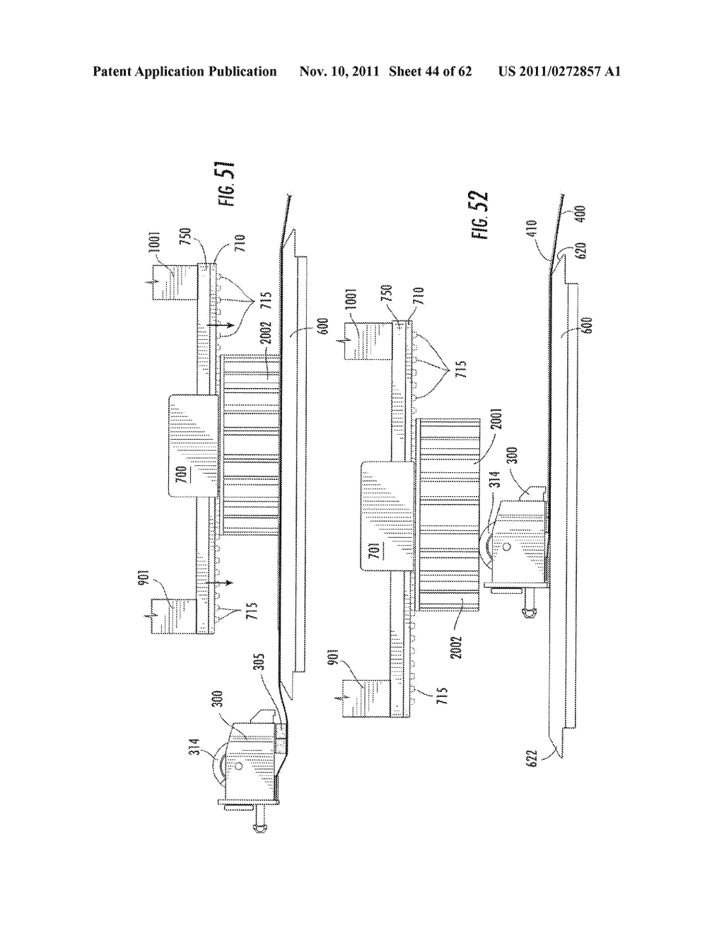 Elevator and Method for Tilting Solid Image Build Platform for Reducing     Air Entrainment and for Build Release - diagram, schematic, and image 45