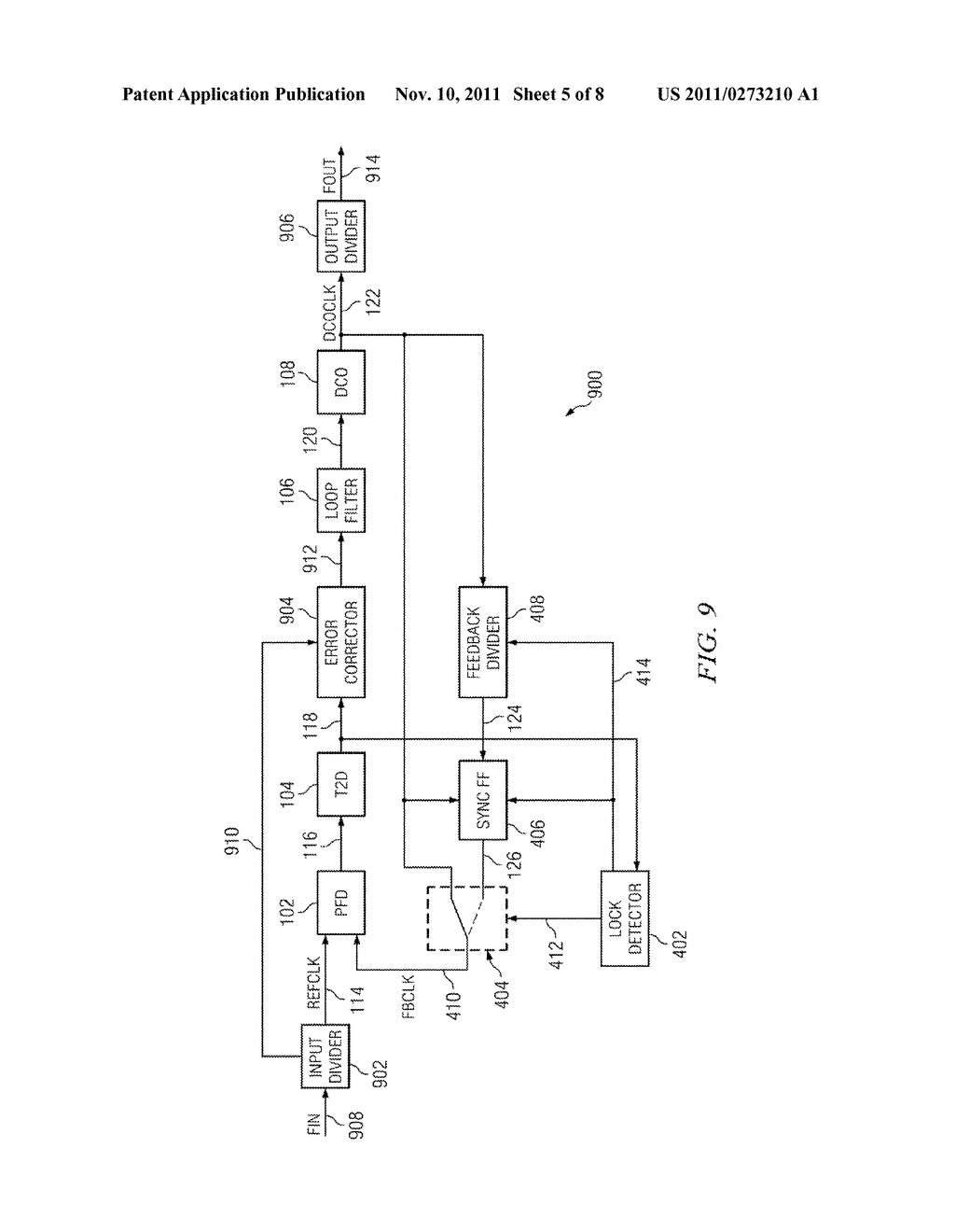 LOW POWER DIGITAL PHASE LOCK LOOP CIRCUIT - diagram, schematic, and image 06