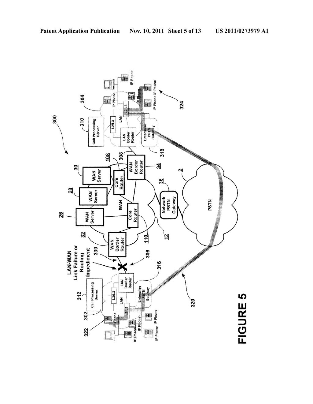 METHOD AND APPARATUS FOR PSTN-BASED IP ACTIVE CALL RECOVERY AND RE-ROUTING - diagram, schematic, and image 06