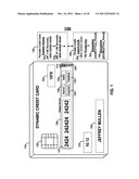 DYNAMIC CREDIT CARD WITH MAGNETIC STRIPE AND EMBEDDED ENCODER AND METHODS     FOR USING THE SAME TO PROVIDE A COPY-PROOF CREDIT CARD diagram and image