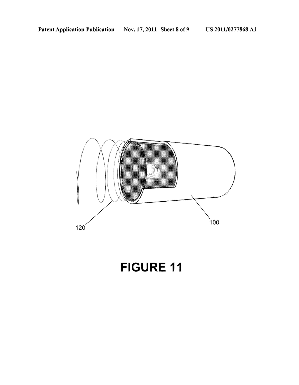 METHOD FOR REPAIRING AND STRENGTHENING PIPE WITH INTERNAL HELICALLY WOUND     TENSILE REINFORCEMENT - diagram, schematic, and image 09