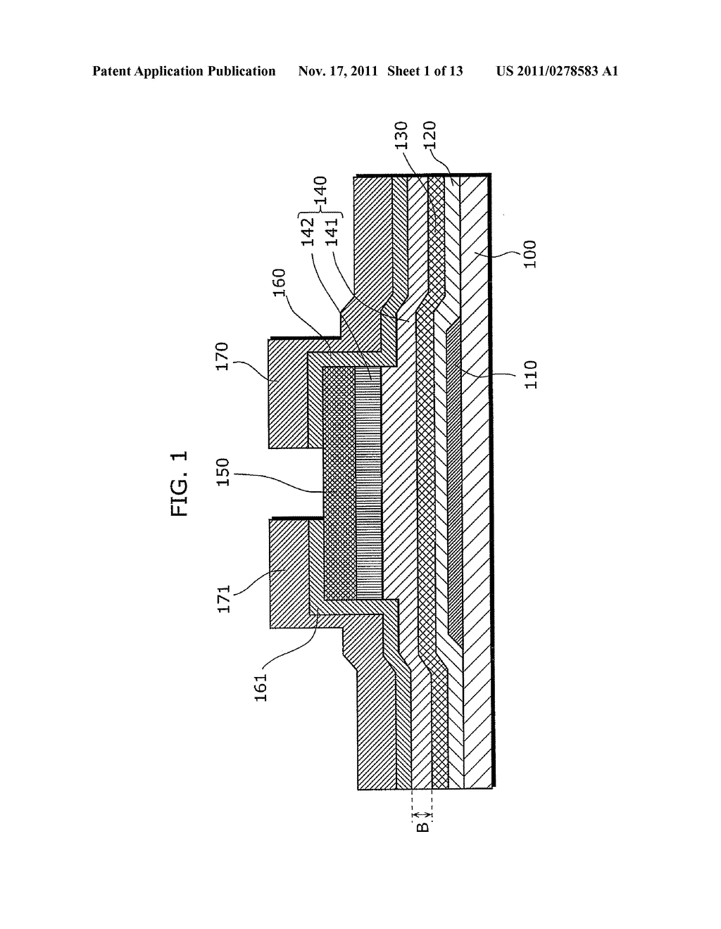 THIN-FILM SEMICONDUCTOR DEVICE FOR DISPLAY APPARATUS AND MANUFACTURING     METHOD THEREOF - diagram, schematic, and image 02