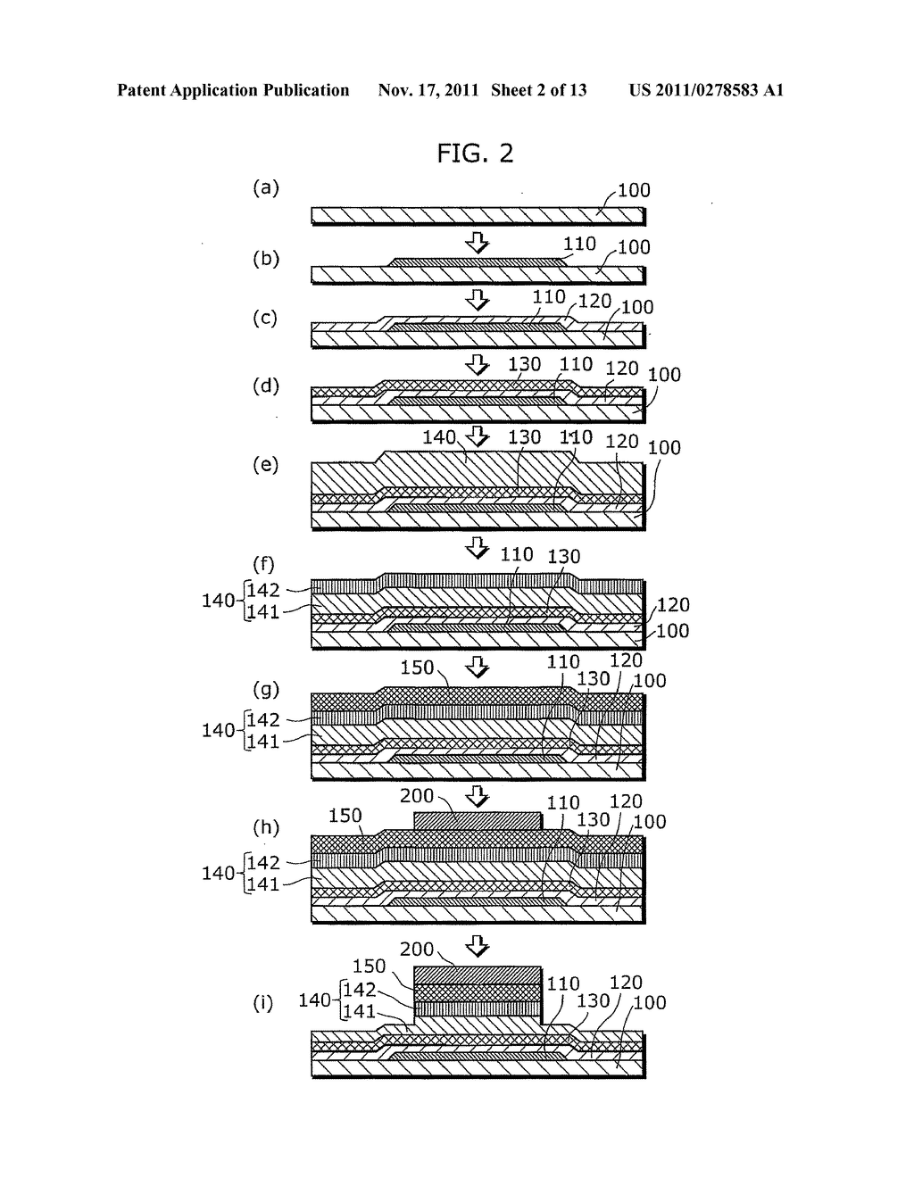 THIN-FILM SEMICONDUCTOR DEVICE FOR DISPLAY APPARATUS AND MANUFACTURING     METHOD THEREOF - diagram, schematic, and image 03