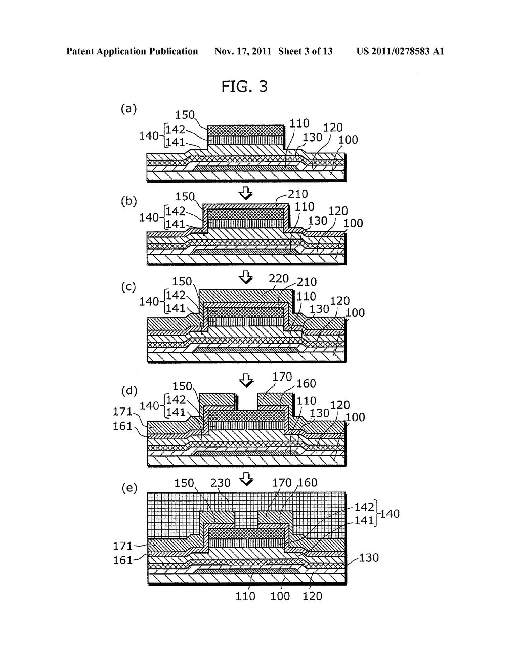 THIN-FILM SEMICONDUCTOR DEVICE FOR DISPLAY APPARATUS AND MANUFACTURING     METHOD THEREOF - diagram, schematic, and image 04