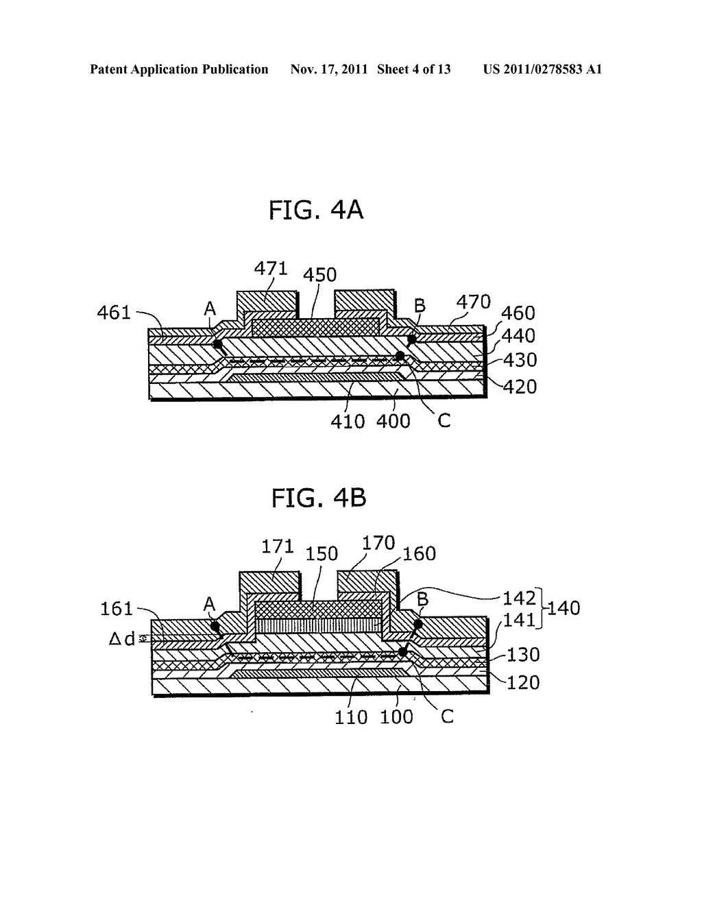 THIN-FILM SEMICONDUCTOR DEVICE FOR DISPLAY APPARATUS AND MANUFACTURING     METHOD THEREOF - diagram, schematic, and image 05