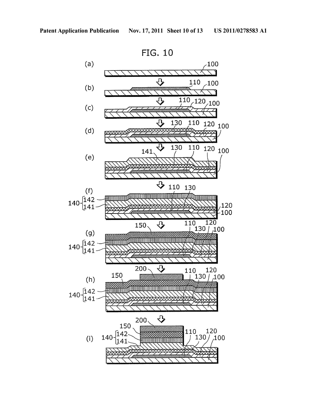 THIN-FILM SEMICONDUCTOR DEVICE FOR DISPLAY APPARATUS AND MANUFACTURING     METHOD THEREOF - diagram, schematic, and image 11