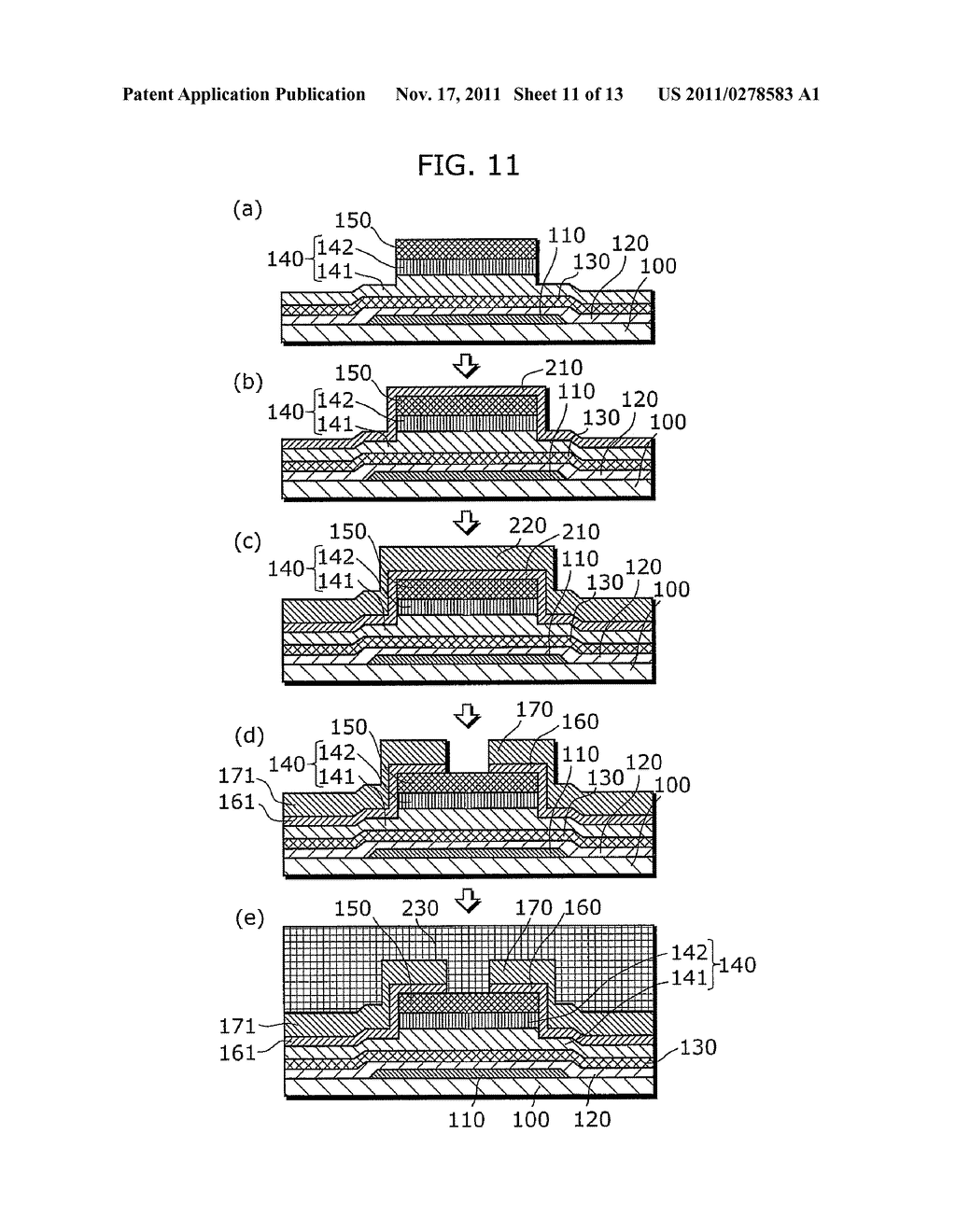 THIN-FILM SEMICONDUCTOR DEVICE FOR DISPLAY APPARATUS AND MANUFACTURING     METHOD THEREOF - diagram, schematic, and image 12