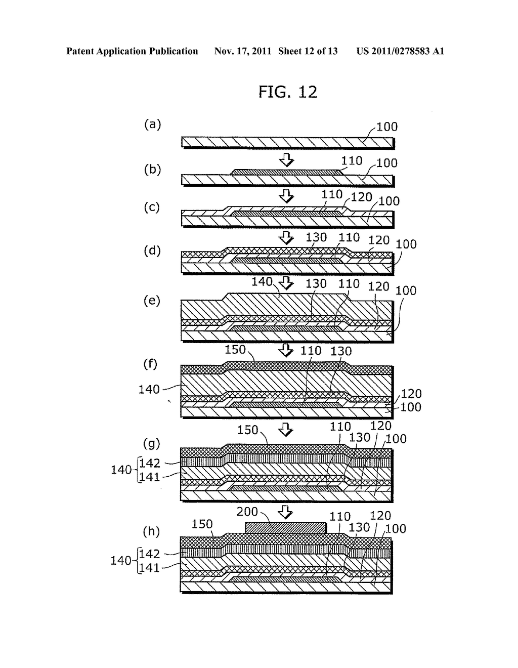 THIN-FILM SEMICONDUCTOR DEVICE FOR DISPLAY APPARATUS AND MANUFACTURING     METHOD THEREOF - diagram, schematic, and image 13