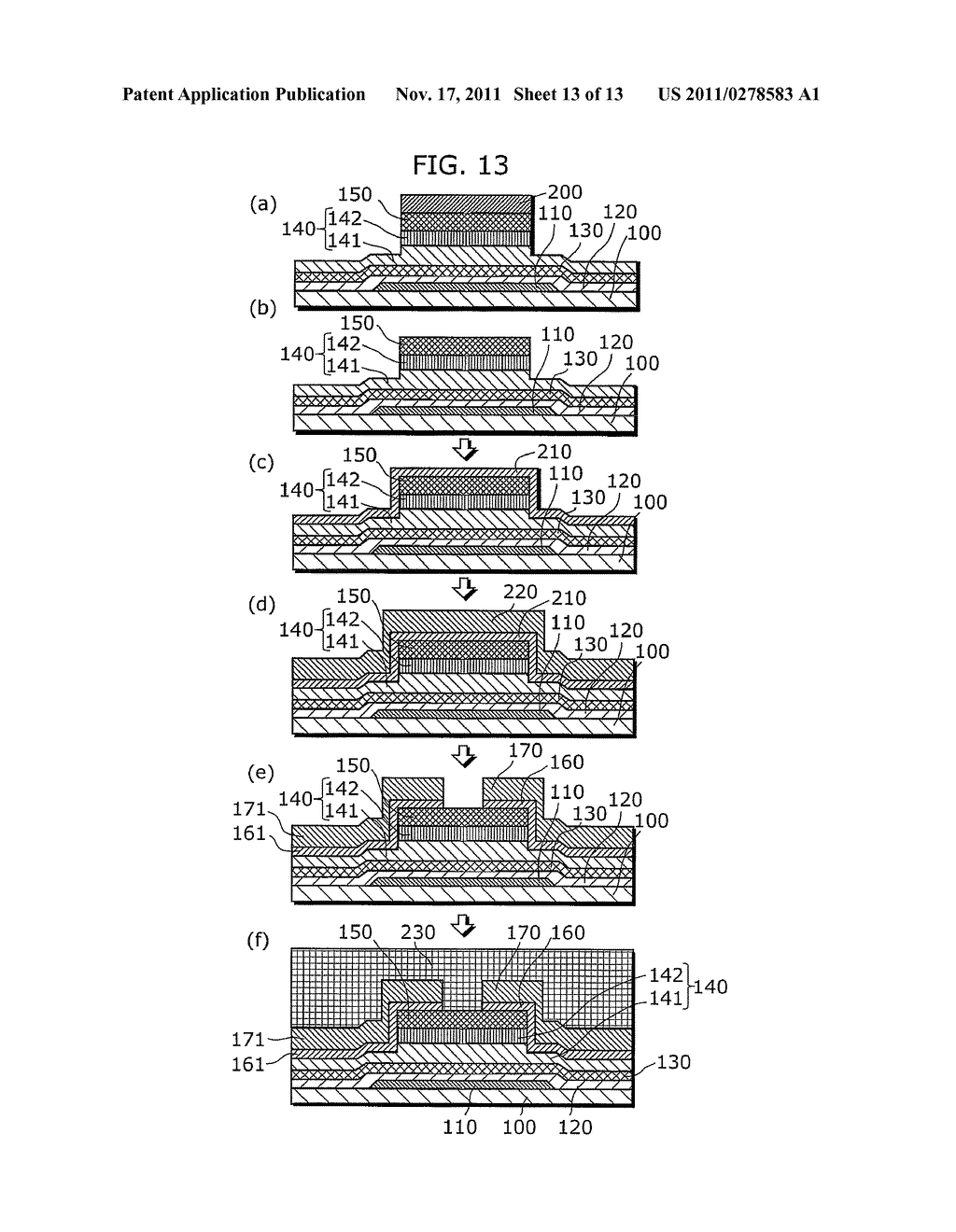 THIN-FILM SEMICONDUCTOR DEVICE FOR DISPLAY APPARATUS AND MANUFACTURING     METHOD THEREOF - diagram, schematic, and image 14